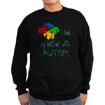 I love my brother with autism Sweatshirt (dark)