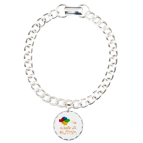 Autistic Daughter Charm Bracelet, One Charm