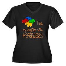 Asperger's daughter Women's Plus Size V-Neck Dark