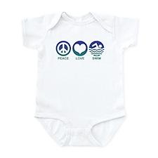 Peace Love Swim Infant Bodysuit