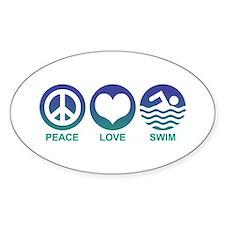 Peace Love Swim Decal