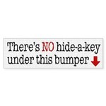 Hide-A-Key Bumper Sticker