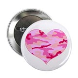 "Pink Camo Heart 2.25"" Button"