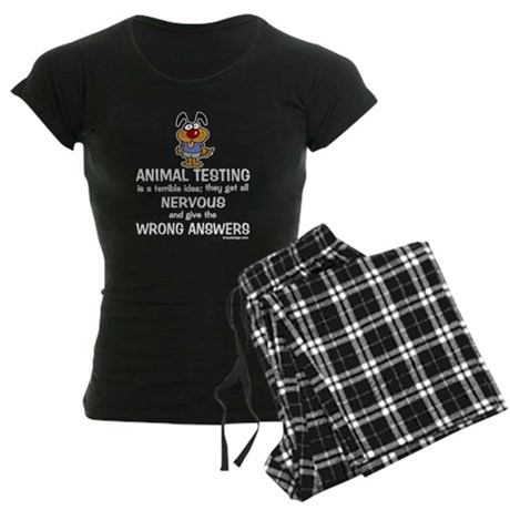 Animal Testing... Women's Dark Pajamas