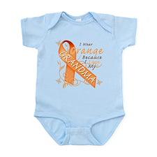 I Wear Orange Because I Love My Grandma Infant Bod