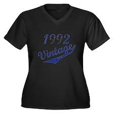 Cute Born 1992 Women's Plus Size V-Neck Dark T-Shirt