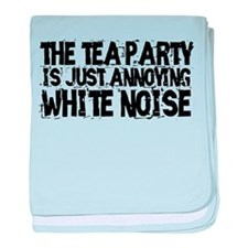 Tea party is white noise baby blanket