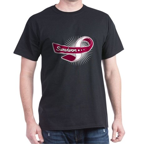 Head Neck Cancer Survivor Dark T-Shirt