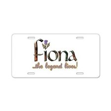 Fiona the Legend Aluminum License Plate