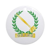 Grand Worthy Advisor Ornament (Round)