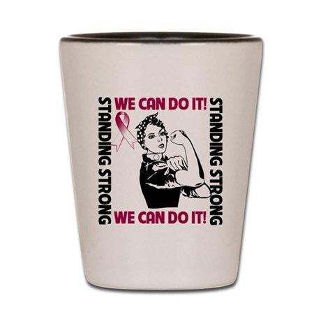 Head neck Cancer WeCanDoIt Shot Glass