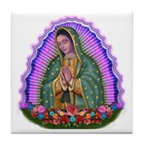 Lady of Guadalupe T4 Tile Coaster