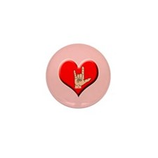 Sign Language I Love You Hand Mini Button-100 pack