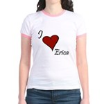 I love Erica Jr. Ringer T-Shirt