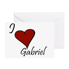 I love Gabriel Greeting Cards (Pk of 20)