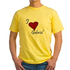 I love Gabriel Yellow T-Shirt