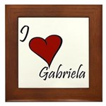 I love Gabriela Framed Tile