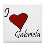 I love Gabriela Tile Coaster