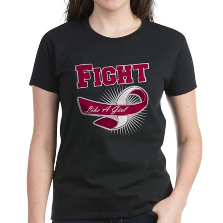 Fight Head Neck Cancer Women's Dark T-Shirt