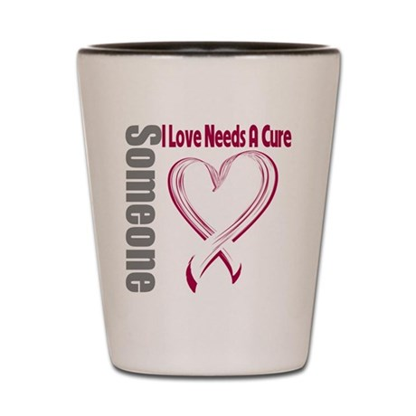 Head Neck Cancer Needs Cure Shot Glass