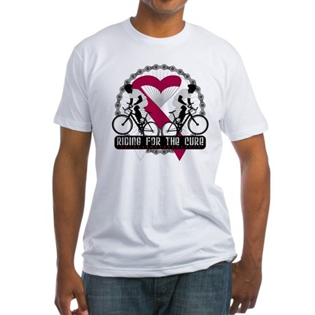 Head Neck Cancer Ride Cure Fitted T-Shirt