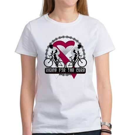 Head Neck Cancer Ride Cure Women's T-Shirt