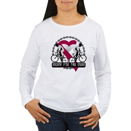 Head Neck Cancer Ride Cure Women's Long Sleeve T-S