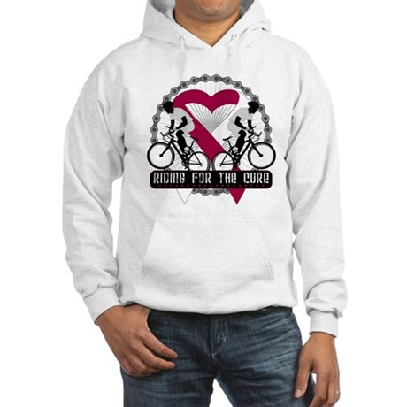 Head Neck Cancer Ride Cure Hooded Sweatshirt