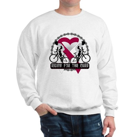 Head Neck Cancer Ride Cure Sweatshirt