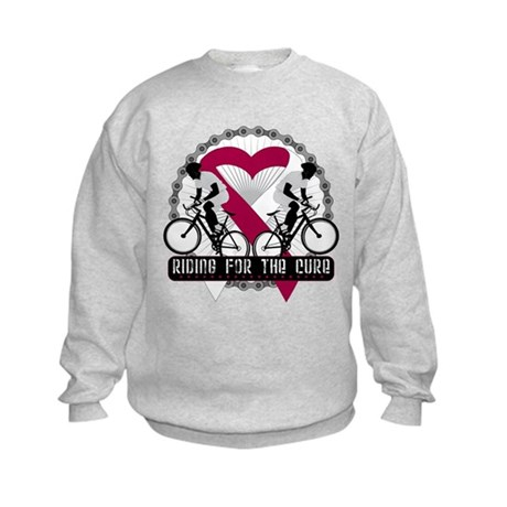 Head Neck Cancer Ride Cure Kids Sweatshirt