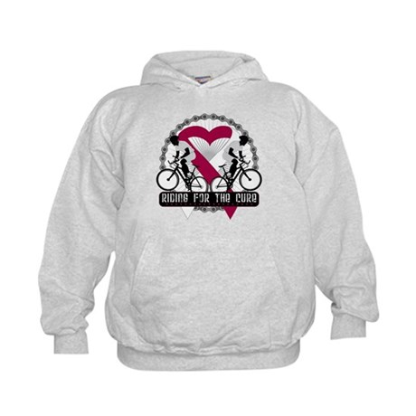 Head Neck Cancer Ride Cure Kids Hoodie