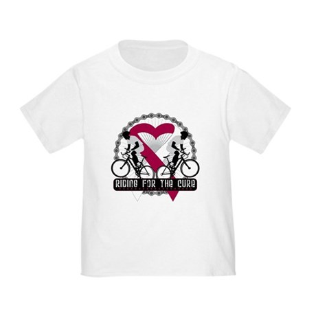 Head Neck Cancer Ride Cure Toddler T-Shirt