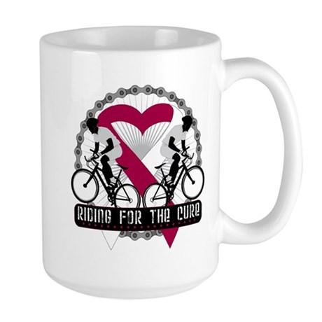 Head Neck Cancer Ride Cure Large Mug