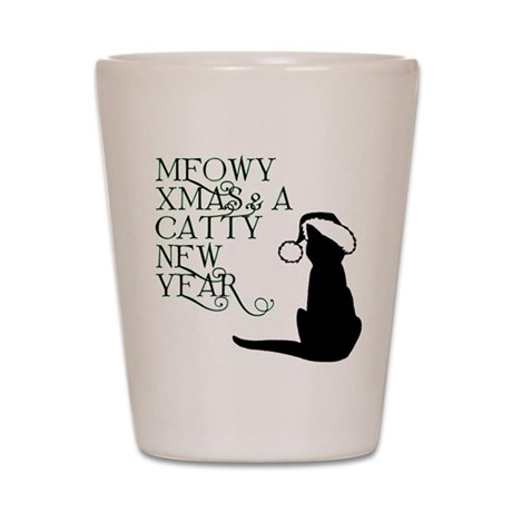 Meowy Christmas Shot Glass
