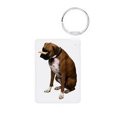 Brindle Boxer Photo Keychains