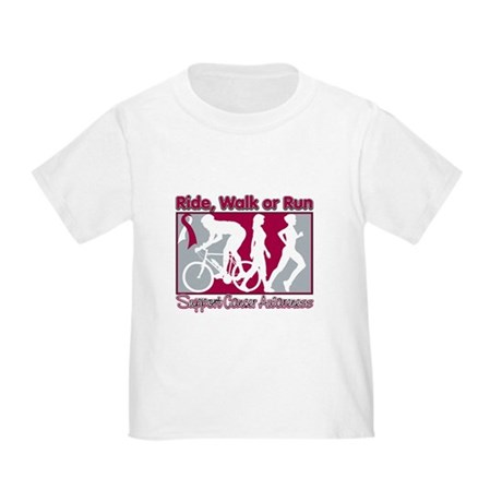 Head Neck Cancer RideWalkRun Toddler T-Shirt