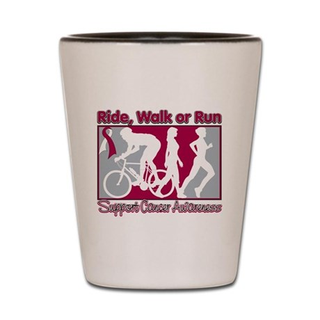 Head Neck Cancer RideWalkRun Shot Glass