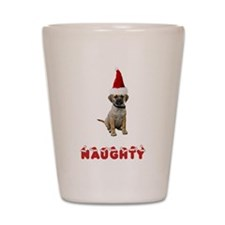 Naughty Puggle Shot Glass