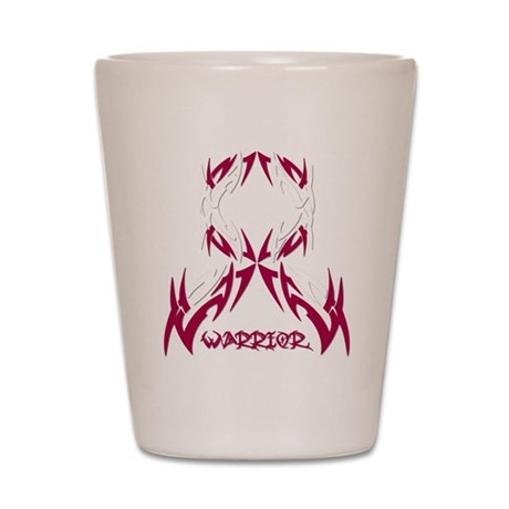 Warrior Head Neck Cancer Shot Glass