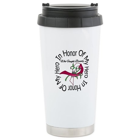 Head Neck Cancer Hero Tribute Ceramic Travel Mug