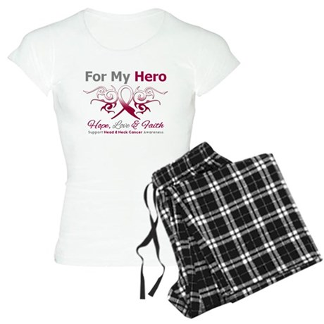 Head Neck Cancer Hero Women's Light Pajamas