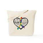 Heart Ribbon - Autism Tote Bag