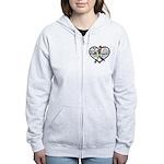 Heart Ribbon - Autism Women's Zip Hoodie