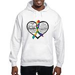 Heart Ribbon - Autism Hooded Sweatshirt