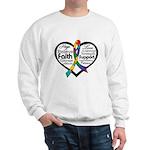 Heart Ribbon - Autism Sweatshirt