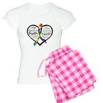 Heart Ribbon - Autism Women's Light Pajamas