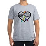 Heart Ribbon - Autism Men's Fitted T-Shirt (dark)