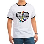 Heart Ribbon - Autism Ringer T