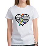 Heart Ribbon - Autism Women's T-Shirt