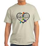 Heart Ribbon - Autism Light T-Shirt